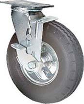 Eureka Bearing & Supply Pneumatic Tire caster with brake